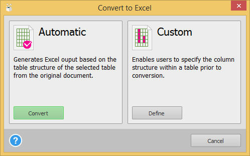excell export an a5 pdf