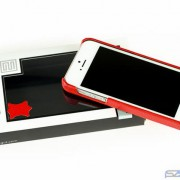 Stilgut Cover aus Leder in Rot - fürdas iPhone 5s